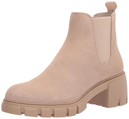 Steve Madden Women's HOWLER Fashion Boot, Sand Suede, 9.5