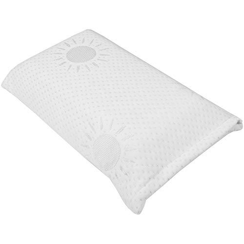 Almohada con espuma viscoelástica y funda extraíble, almohada cervical o almohada de viaje en 42 x 23 cm