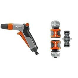 GARDENA Pistolet d'Arrosage et Nettoyage Multijet Classic : Pistolet pour le Nettoyage et la Pulvérisation, Protection…