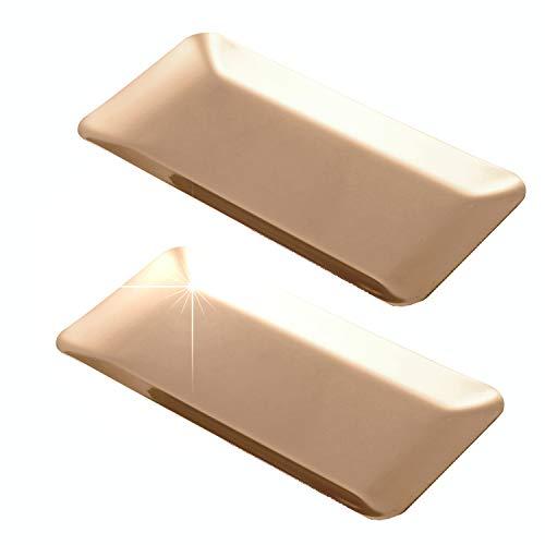 Tierneys [ティアニーズ]コイントレイ 釣り銭置きキャッシュトレイ ステンレス製 トレー 鍵おき お会計皿 小物トレー 方形 2枚セット (Pink Gold)