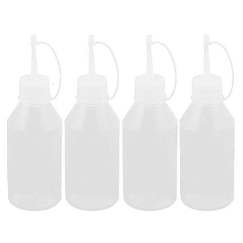 Agger 100 ml 4 Pezzi da Cucina Ketchup Senape maionese Spremere Bottle Holder Squeeze Bottiglia Dispenser