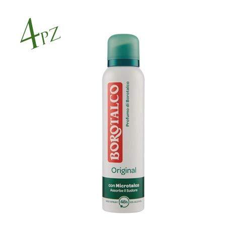 4x BOROTALCO ROBERTS deo spray deodorant Original Fresh 150 ml ohne Alkohol