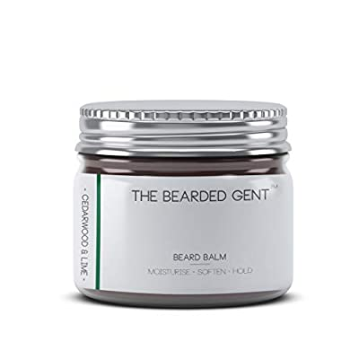 Beard Balm For Men Growth Set - Selection Of Different Scented Premium Balms Gifts For Him - The Bearded Gent - Cedarwood & Lime - 60ml by The Bearded Gent