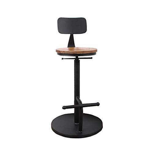 YB Swivel Barstool Adjustable Bar Stools, Bar Stool Modern and Stylish Black Bar Chair Suitable for Kitchen Cafe Bar Chair (Color : A)