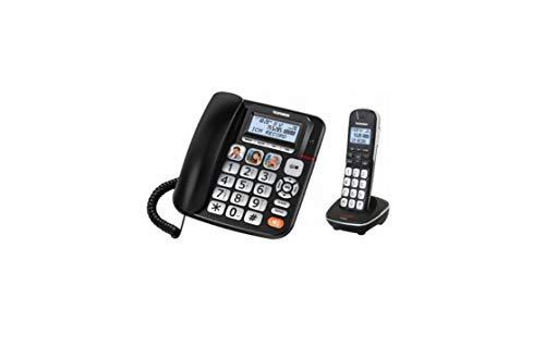 Telefunken TF 952 Cosi Combo - Teléfono Fijo inalámbrico (20,6 x 19 x 9,3 cm), Color Negro