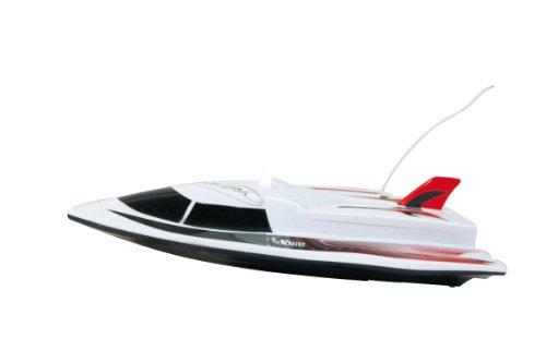 Jamara 040430 - Sworfish 2-kanaals met LED 27 Mhz - 2 aandrijfmotoren met veiligheidsfunctie! Scheepschroeven draaien alleen in het water, eenvoudig te bedienen, romp voor hoge snelheden, LED