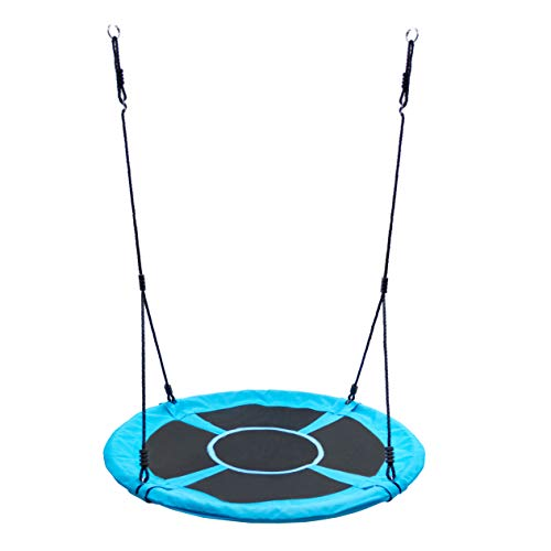 Homde Flying Saucer Swing 47 Inch Anti-Fade Tree Swing Set Outdoor Indoor Swings with Adjustable Straps for Kids, Adults and Teens (47 Inch Upgrade Version)