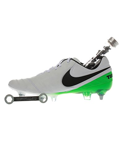 Nike Tiempo Legend VI SG-PRO - Scarpe da Calcio per Adulti, Suola Morbida, 42, Colore: Nero, Verde, Bianco, in Pelle