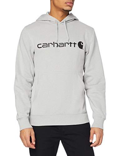 Carhartt Force Delmont Graphic Hooded Sweatshirt Felpa con Cappuccio, Asphalt Heather, M Uomo