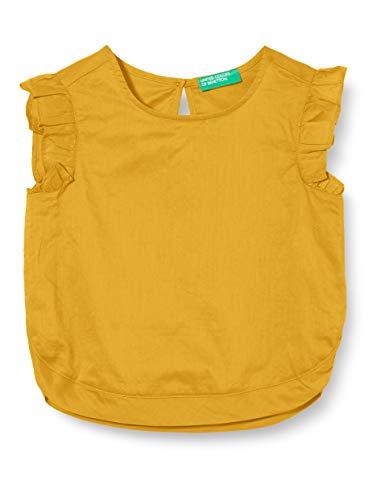 United Colors of Benetton 5JO15QH70 Blusa, Giallo (Mineral Yellow 10k), 80/86 (Taglia Produttore:1Y) Bimba