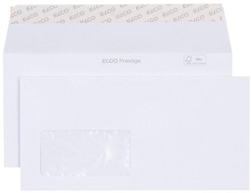 Elco 42779 Prestige Briefumschlag, Dinlang, 120 g, weiß