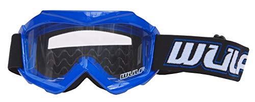 Gafas de motocross para niños, para motocicleta, todoterreno, ATV, Bmx, quad, protección para carreras de motocross, para niños y niños, color azul