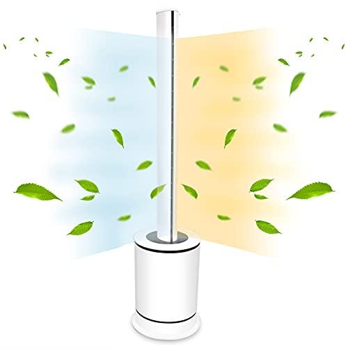 ファンヒーター スリムタワー型 HOT & COOL 空気清浄機能付き 自動首振り タイマー 自動電源オフ 送風・温...