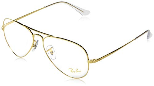 Ray-Ban Aviator-0rx64893086 Gafas, LEGEND GOLD, 55 Unisex