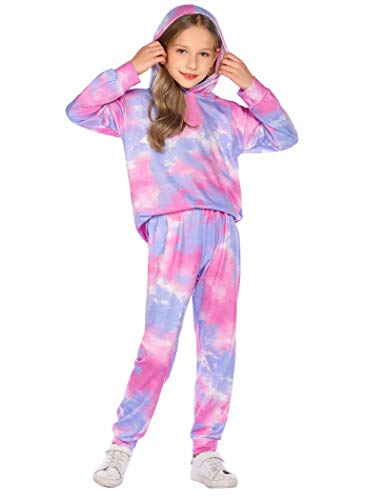 Arshiner Girls Tracksuit Sets Womens 2 Piece Sweatsuits Pullover Hoodie & Sweatpants Jogging Suits Outfits