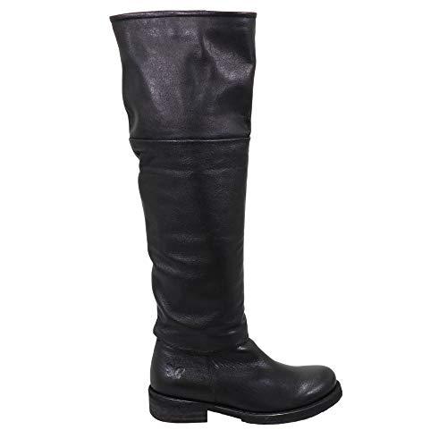 Felmini - Scarpe da donna – VerLiebe Cooper C413 – Cowboy & Biker Stivali alti – Vera pelle – Nero, Nero (Nero ), 39 EU