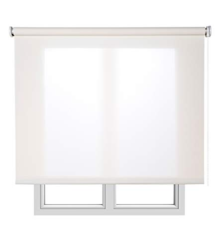 Estores Basic, Stores screen, Blanco, 105x180cm, estores para ventana, persianas enrollables para el interior.