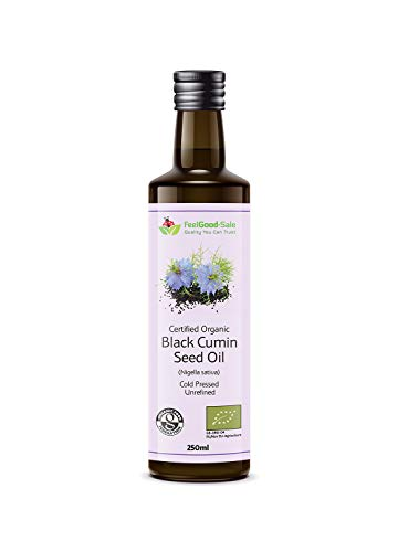 250ml Organic Black Cumin Seed Oil Raw Pure Virgin Cold Pressed Undrefined 100% Natural