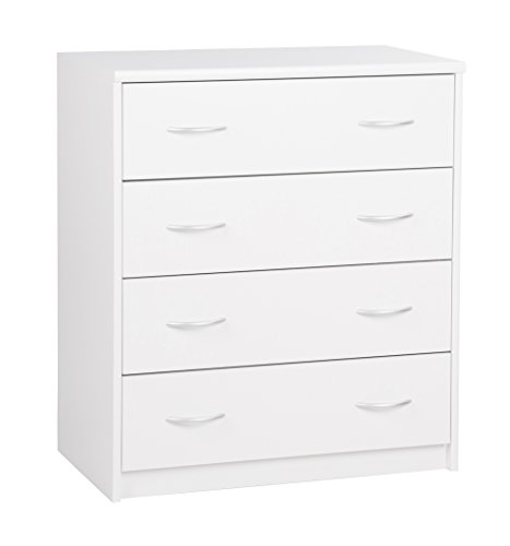 Schubladenkommode (B/H/T: ca.: 74 x 85 x 45 cm) Topplatte 22 mm gesoftet, (Melaminharzbeschichtet - kratzfest & wasserabweisend) weiß