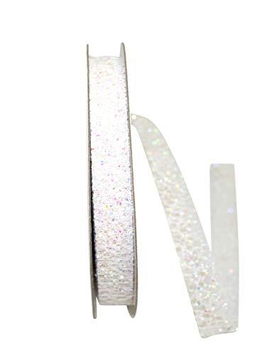 Reliant Ribbon Glitter Web Mesh Ribbon, 5/8 Inch X 25 Yards, Iridescent