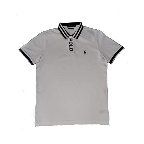Polo Ralph Lauren Custom Slim Fit Mesh Polo (L, Oxford White)