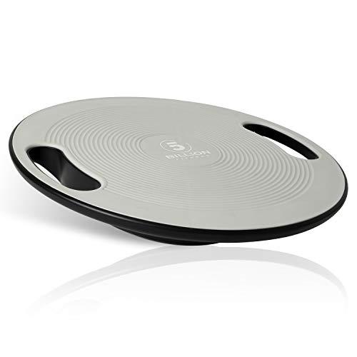 5BILLION バランスボード ダイエット体幹トレーニング用 360回転 滑り止め設計 直径40cm 持ち運び便利 (Grey)