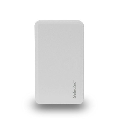 SELECTEC 5000mAh Powerbank Power Bank Externer Akku Ladegerät für Handy iPhone Samsung iPad Smartphone Farbe Weiss