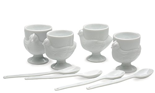 RSVP 8 Piece Egg Cup & Spoon Set