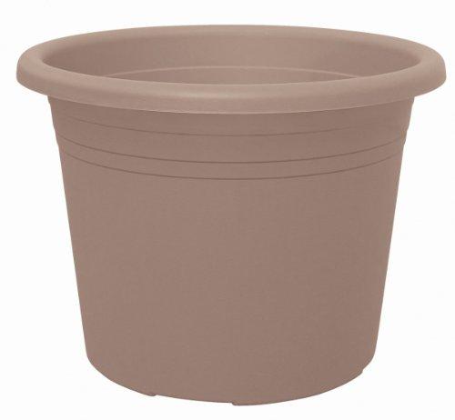 geli Thermo Plastic Cylindro Pot de Fleurs Rond en Plastique 25 cm Taupe 40