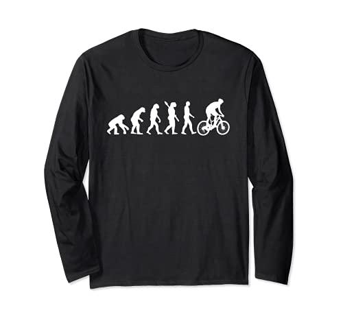 Downhill Bike Evolution, Fahrradfahrere, Mountainbike Sport Langarmshirt