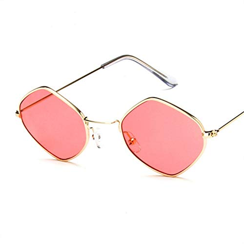 Taiyangcheng retro zonnebril dames merkontwerper kleine metalen zonnebril dames ruiten rood roze helder brillen Uv400
