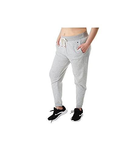 Champion Women's Plus Size Heritage French Terry Jogger, oxford gray, 4X
