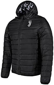 Piumino Juventus Bambino Juve Ufficiale Leggero Giubbotto Giubbino Giubbetto Giacca Nero JJ (cm:Spalle