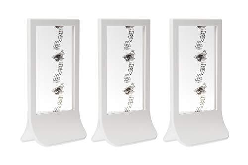 Ikea FIESTAD - Marco de fotos reversible, 10 x 15 cm, color blanco, plástico (juego de 3)