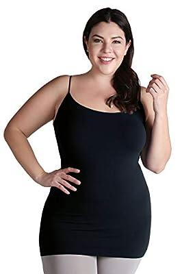 NIKIBIKI Women Seamless Premium Classic Camisole, Made in U.S.A, Plus Size (Midnight) from NIKIBIKI