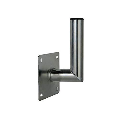 PremiumX 10-15cm Wandhalter Stahl verzinkt Winkel Wand-Halterung für Satelliten-Antenne SAT-Schüssel Wand-Montage Wandabstand 100-150mm Ø 48mm