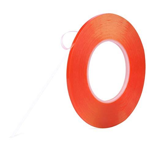 両面テープ、強力 透明 はがせる Meristcn テープ 作業 DIY 耐候 耐熱 屋外 車用テープ 透明両面テープ (5mm)