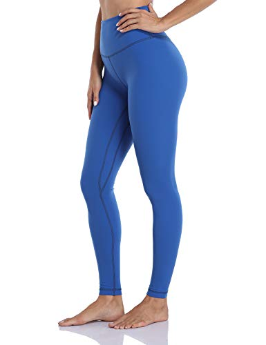 Hawthorn Athletic Full Length Yoga Leggings for Women, Buttery Soft Workout Pants Compression Leggings with Pockets Classic Blue_28'' M(8/10)