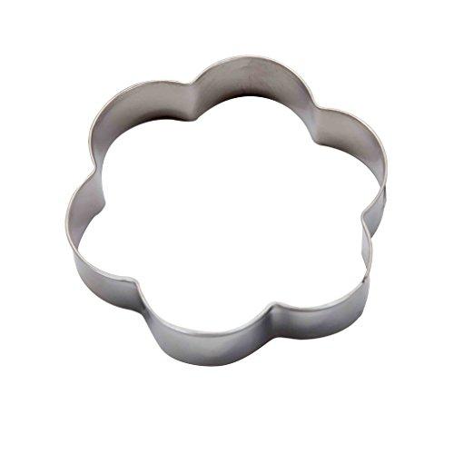 DeColorDulce Fleur Moule Biscuit, Acier Inoxydable, Argent, 13 x 10 x 3 cm