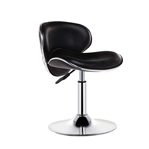 Office Chair, PU Leather comfortabele stoel verstelbaar Barkruk Office Book Room Cafe draaistoel met rug en voetensteun (Color : B, Size : 46 * 37-52CM)