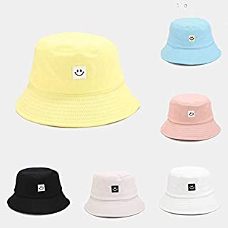 Anself Women Hat Fisherman Hat Smiley Face Sunbonnet Bucket Hat Hip Pop Casual Fedoras Outdoor Beach Cap