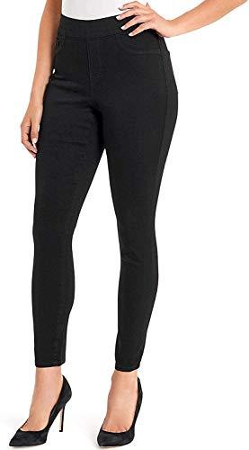 NINE WEST Heidi Pull-On Skinny Jeans (Black, 4)