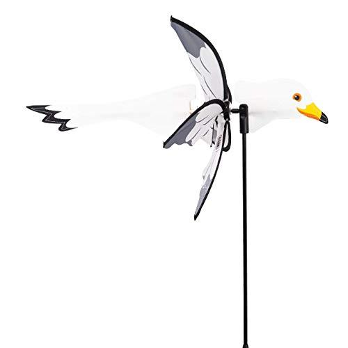 CIM Windspiel - Petite 2in1 MÖWE - Windrad Ø28x43x85cm - Windmühle mit Standstab oder Mobile mit Hängeset