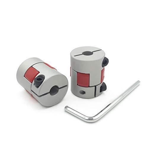 2PCS 5mm to 7mm Aluminium Plum Flexible Shaft Coupling 25mm Length 20mm Diameter Connector Flexible Coupler for 3D Printer CNC Machine and Servo Stepped Motor