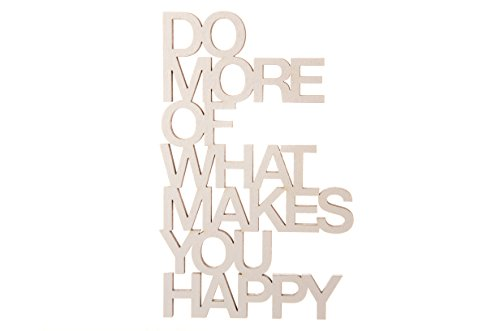 3DTYPO - made by NOGALLERY - Do more of what makes you happy - 3D Schriftzug, hellgrau,  20,8 x 13,2 cm