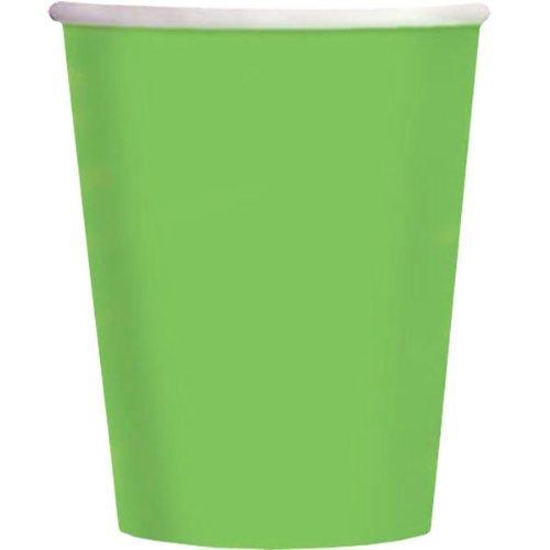 Paper Cups Lot de 14 gobelets en carton Vert 266 ml