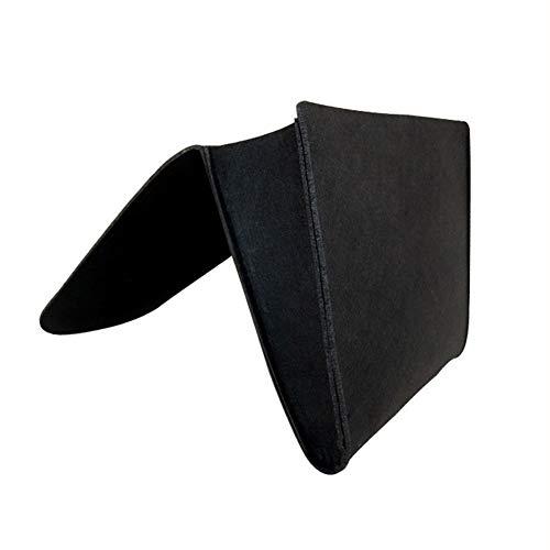 LXS - Organizador de ropa de cama, organizador de noche, cama de fieltro, sofá, escritorio con dos pequeños bolsillos para teléfono, libro, cristal, aislado, tablet, Felt, negro, 27x8x21cm