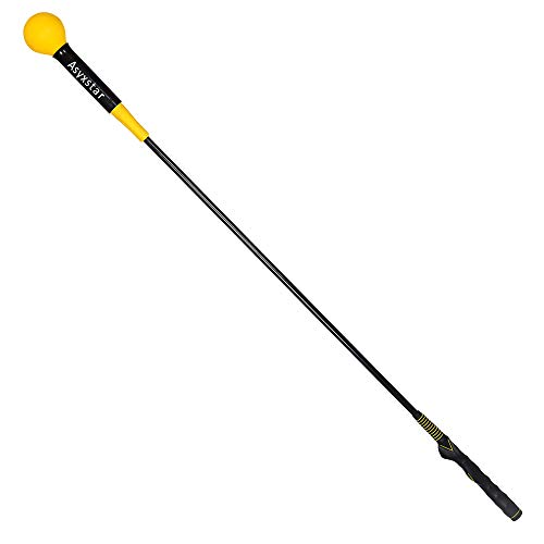 Asyxstar Golf Swing Trainer Aid - Power Flex Golf Swing Training aid for Strength and Tempo Golf Warm Up Stick
