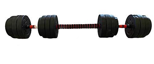 Vetrineinrete® Bilanciere con dischi in ghisa manubrio regolabile 30 e 40 kg allenamento fitness sport bodybuilding (30 Kg) P2