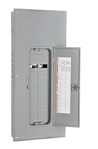 Square D by Schneider Electric HOM3060L125PC Homeline 125-Amp 30-Space 60-Circuit Indoor Main Lugs Load Center with Cover, Plug-on Neutral Ready